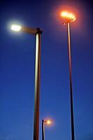 Streetlights, Barcelona, Catalonia, Spain