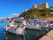 Port in Mao - capital city of Menorca, Balearic Islands, Spain.