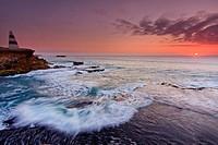 Sunset over Pacific Ocean , Australia.