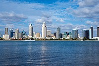 San Diego Skyline and Harbor. Photographed from Coronado, California, United States.