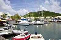 Boats and restaurants at Marina Port La Royale.