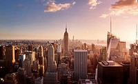 Overview of Manhattan from Rockefeller Center. New York City. NY, USA.
