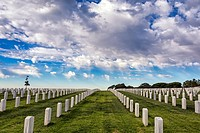 Fort Rosecrans National Cemetery. San Diego, California, United States.