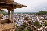 City of Bundi from the palace, Rajasthan, India
