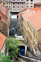 Zagreb city with funicular.