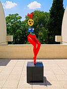Fundacio Joan Miro - Joan Miro Museum in Barcelona, Catalonia, Spain.