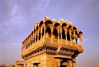Salim Singh Ki Haveli in Jaisalmer in Rajasthan in India in South Asia