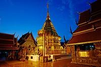 Thailand, Chiang Mai, Wat Phra That Doi Suthep.
