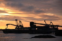 Coal loading terminal, Ridley Island, Prince Rupert, BC.