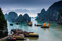 A View Of Halong Bay, Gulf of Tonkin, Vietnam.