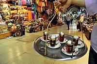 Tea seller. Grand Bazaar. Istanbul. Turkey.