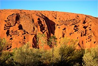 Uluru (Ayers Rock) at dawn, Central Australia.