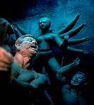 Hindu idols in Kumartuli (or Kumortoli) the potters´ district in Calcutta (Kolkata) in West Bengal in India.