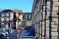 Aqueduct of Segovia, Castilla Leon, Spain.
