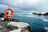 Lifesaver in Faial island, Azores, Portugal.