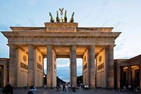 Brandenburg Gate (Brandenburger Tor), Berlin Germany - Former city gate, rebuilt in the late 18th century.