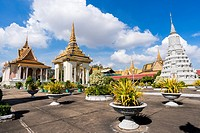 Silver Pagoda and Stupa. The Silver Pagoda´s proper name is Wat Preah Keo Morokat, which means ´The Temple of the Emerald Buddha´. Royal Palace comple...