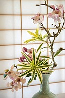 Ikebana flower arrangement.