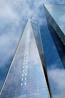 One world trade center in 2014, New York City, USA.