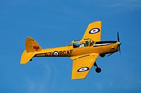 1930´s RAF Chipmunk pilot training biplane aircraft at a Shuttleworth Collection air display at Old Warden airfield, Bedfordshire ,UK.