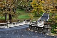 The White Bridge, Vanderbilt Mansion National Historic Site, Hyde Park, New York, USA.