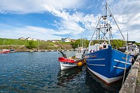 Eyemouth, a small fishing town in Scotland, United Kingdom.