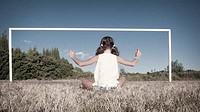 Girl Framed by Meditation, the midi, France