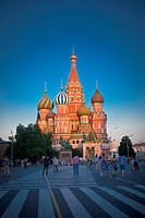St. Basil Cathedral and the Red Square in Moscow.