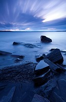 A long exposure of ´Georgian Bay´ at dusk. Parry Sound, Ontario, Canada.