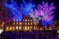Christmas lighting, Barcelona, Catalunya, Spain.