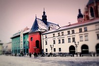 Old streets in the Old Town of Krakow, Poland, Europe.