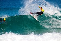 Surfer in Hossegor, Quiksilver Pro France, South West Cost, France.