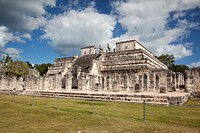 The Temple of the Warriors at Chichen Itza Ruins, Chichen Itza, Yucatan Province, Mexico, Central America.