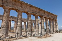 The Doric Temple of Segesta, the most important Elymian city in Sicily, Italy, Europe.