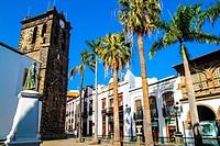 Spain square and El Salvador church in Santa Cruz de La palma municipality