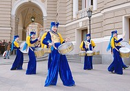 April 01, 2014. Outdoor concert drummers near the teatre Opera and Beleth. In Odessa, held Humorina (Day of humor, laughter and fun) this is an annual...