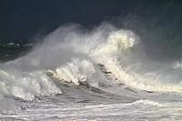 Waves at Llanes Coast, Asturias Spain.