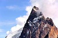 Mountain top of mountain La Meije; La Grave; Écrins, Hautes-Alpes, French Alps, France.