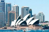 Sydney Opera House and high rise office buildings at Circular Quay,Sydney,Australia