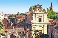 Italy, Veneto, Verona, archeological museum near St Pietro castle.