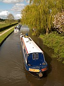 on The Trent & Mersey canal, at Alrewas, Staffordshire, UK.