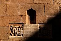 Jesus Christ Salvador, Cathedral of Santa Eulalia in Barcelona in Gothic quarter, Catalonia, Spain