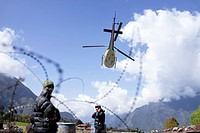 Helicopter rescue. April 2015 Nepal earthquake