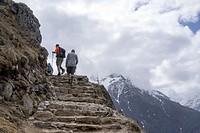 Hikers. Himalayas. Nepal.