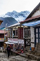 Namche Bazaar Mountains. Himalayas. Nepal.