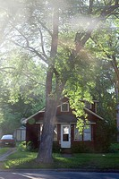 Single house in a suburban, midwestern town, Midland, Michigan, Midwest, USA