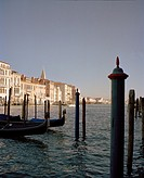 The Grand Canal on a clear day in Venice, Italy, Europe