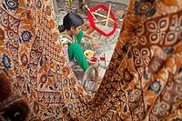 DHAKA, BANGLADESH 07th July : A Bangladeshi weaver designs a Jamdani Sari (women´s wear) in the village of Rupganj Thana outskirts of Dhaka on 07th Ju...