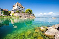 Castle of Yvoire in the shore of Leman Lake, Haute-Savoie, Rhône-Alpes, France.