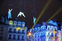 Festival of lights, place Bellecour, Lyon, France.